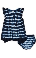 Splendid Infant Girl's Tie-Dye Flutter Sleeve Dress