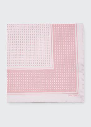 Tom Ford Men's Polka Dot Silk Pocket Square