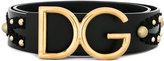 Dolce & Gabbana logo belt with stud detailing