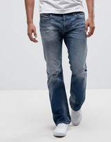 Diesel Zatiny Bootcut Jeans 084dd Mid Wash Abraisions