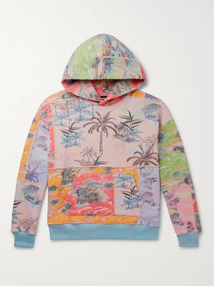 Amiri Patchwork Cotton-Jersey Hoodie