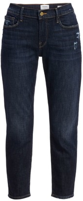Frame Le Garcon Mid-Rise Crop Roll Cuff Jeans