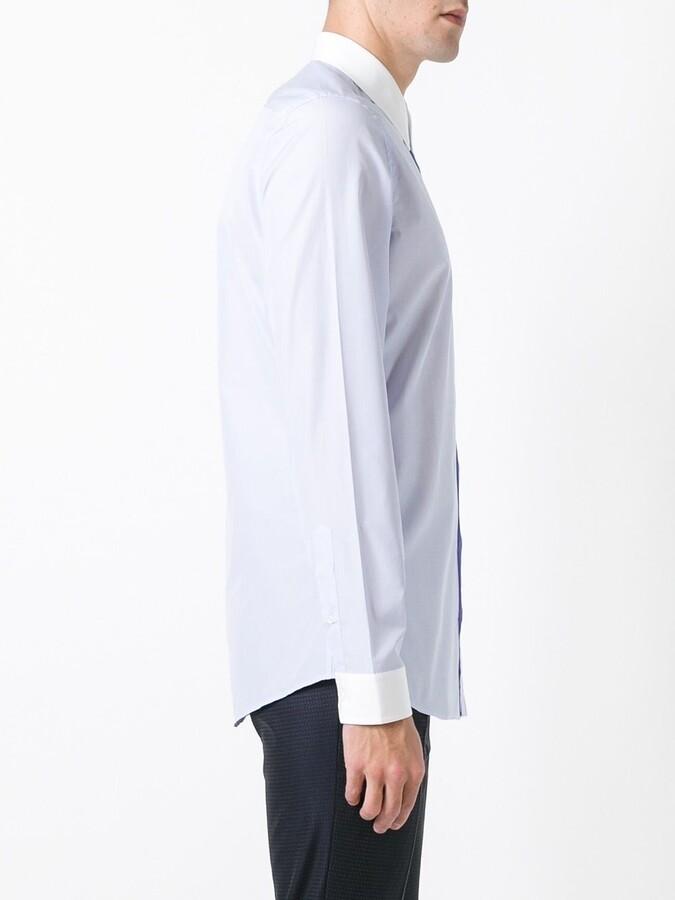 Gucci contrast collar shirt