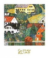 Gustav 1art1 Posters Klimt Poster Art Print - Houses At Hunterach (28 x 20 inches)