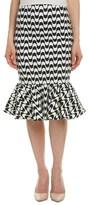 Nicole Miller Linen-blend Midi Skirt.