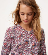 LOFT Flowerbud 3/4 Sleeve Signature Cotton Cardigan