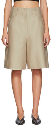 BEIGE LVIR Silk Shorts