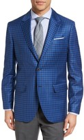 Moods of Norway Men's Blaa Trim Fit Check Wool Sport Coat