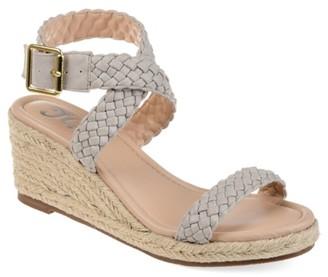 Journee Collection Evolet Espadrille Wedge Sandal