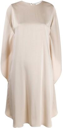 Stella McCartney Draped-Back Sleeveless Dress