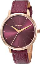 Nixon Women's 'Kensington' Quartz Metal and Leather Automatic Watch, Color:Pink (Model: A1082479-00)