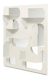 Umbra Bend Mirror & Shelf, 24 x 24