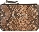 No.21 snakeskin effect clutch - women - Leather - One Size