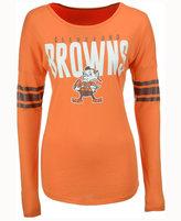 '47 Women's Cleveland Browns Courtside Long-Sleeve T-Shirt