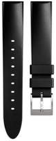 Uniform Wares Men's tapered nitrile rubber watch strap in black with brushed steel buckle