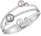Majorica Silver-Tone Colored Imitation Pearl Statement Ring