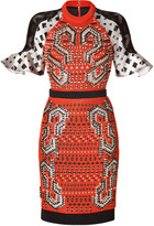 Peter Pilotto Blood Orange Embroidered Carolina Dress