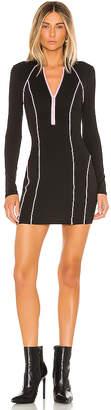 superdown Marina Zip Front Dress Black & Pink