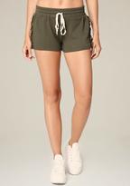 Bebe Ruffled Drawstring Shorts