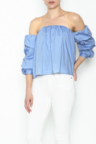 Cotton Candy Ruffle Sleeve Top