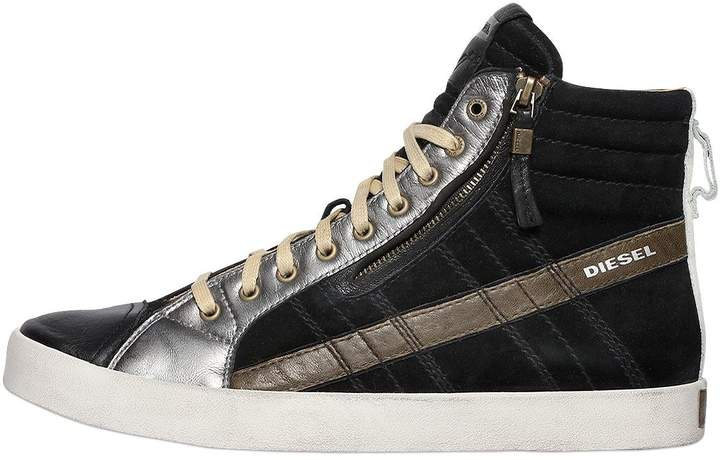 Diesel Suede & Leather High Top Sneakers