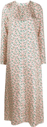 Marni Floral Print Silk Dress