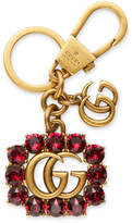 Gucci Metal Double G with crystals keychain