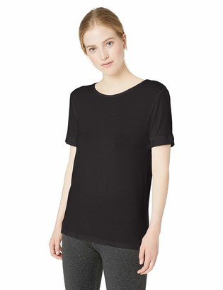 Andrew Marc Women's Short Sleeve Strappy Back tee Shirt