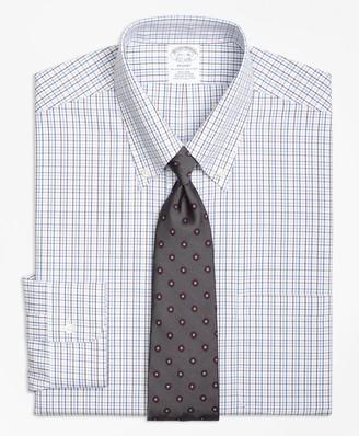 Brooks Brothers Regent Fitted Dress Shirt, Non-Iron Triple Tattersall