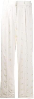Victoria Beckham Metallic Dots Straight Trousers