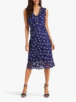 Phase Eight Fran Lace Dress, Blue