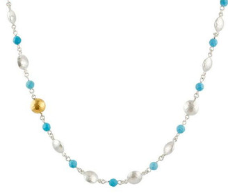 Gurhan Spell 24K 1.74 Ct. Tw. & Silver Turquoise Necklace
