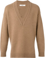 Bally low v-neck jumper - men - Cashmere - 46
