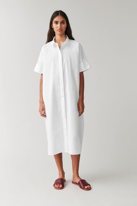 Cos Long Cotton Shirt Dress