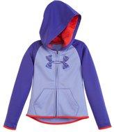 Under Armour Girls' Pre-School UA Armour® Fleece Big Logo Zip Hoodie