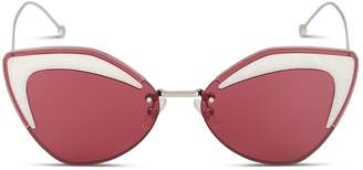 Cat Eye Fendi Eyewear Glittered Sunglasses