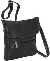 Le Donne Leather Front Flap Crossbody Bag