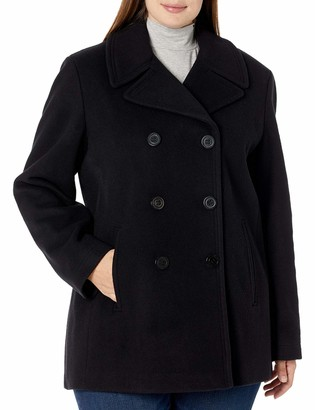 Calvin Klein Sized Womens Double Breasted Peacoat