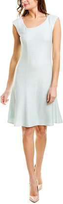 St. John Wool-Blend A-Line Dress