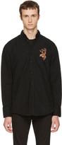 DSQUARED2 Black Corduroy Reindeer Shirt