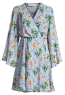 Etro Women's Painted Floral Silk Dress