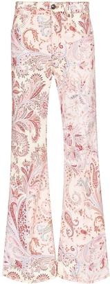 Etro Paisley Pattern Wide Leg Jeans