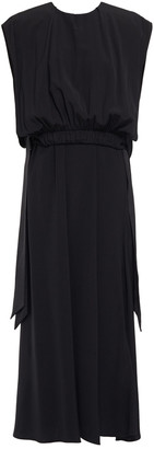 Victoria Victoria Beckham Gathered Crepe Midi Dress