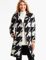 Talbots Brushed Bold Houndstooth Coat