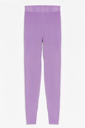 Nasty Gal Womens Time for You Knitted Lounge Leggings - Lilac