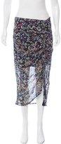 Rebecca Minkoff Asymmetrical Floral Print Skirt