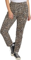 Volcom Super Stoned Animal Print Ankle Skinny Jeans
