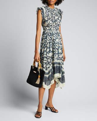 Ulla Johnson Amalia Batik-Print Sleeveless Midi Dress