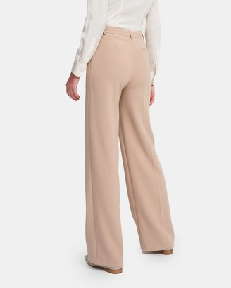 Theory Wide Trouser in Crepe