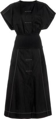 Esse Studios Ribbed-Knit Cotton Shirt Dress